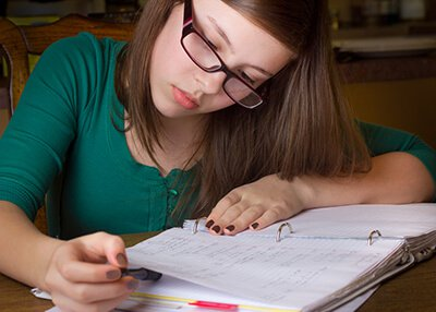 Elevations RTC - Adolescent female studying at therapeutic boarding school for struggling youth