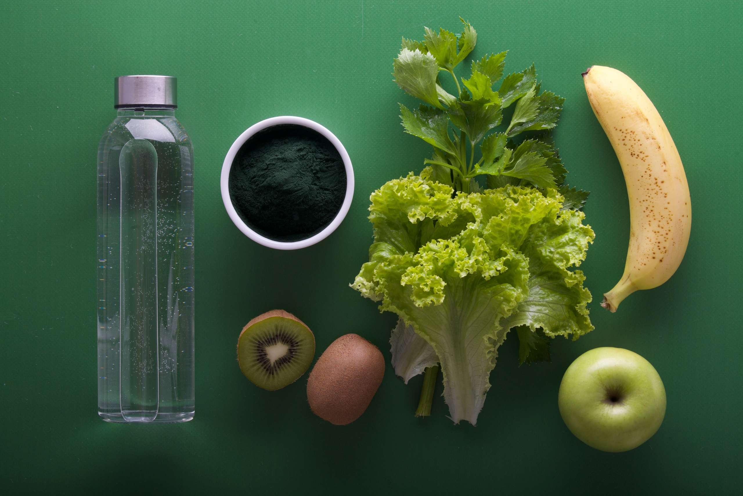 A combination of multiple healthy food items.