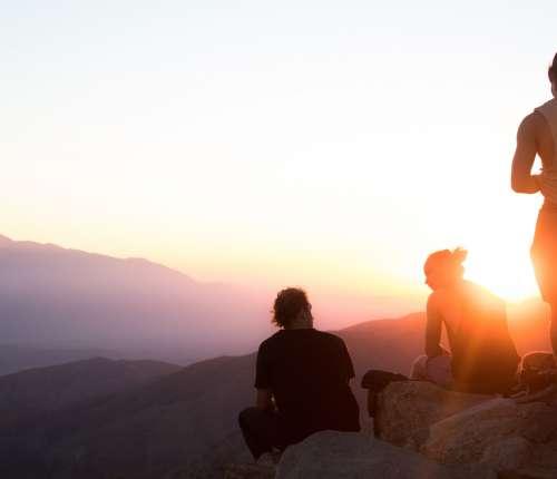 Teenagers explore outdoors